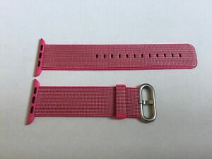 Genuine APPLE Watch Strap Band 42mm /44mm  Woven Nylon PINK