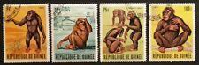 Guinea Animal Mammal Ape Chimpanzee full Vfu set (4) 1969 #531-4 Mi 532-5