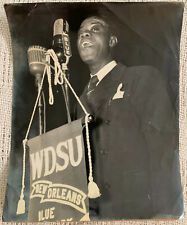 Vintage Original Louis Armstrong Candid Photo WDSU New Orleans