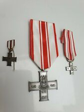 Polish WW2 - Cross of September Campaign 1939 Medal + 2 Miniature Medals