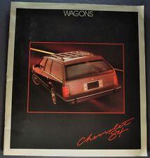 1984 Chevrolet Station Wagon Brochure Caprice Celebrity Cavalier Sportvan Blazer