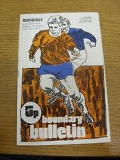 01/01/1972 Oldham Athletic v Rochdale  . Item appears to be in good condition un