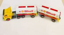 🏁 MAJORETTE Vintage Shell Oil Full Cab Double Tanker Truck Super Movers 1:87 🏁