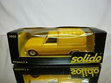 SOLIDO 1002 RENAULT 4 FOURGONETTE - YELLOW 1:43 - GOOD CONDITION IN BOX