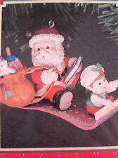 1993 Enesco Christmas Ornament Santas Magic Carpet Ride w/ Elf 582115 NIB