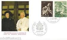 1985 - ENVELOPPE-FDC 1°JOUR - VATICAN - JEAN PAUL II - REINE D'OLANDA - PAYS.BAS