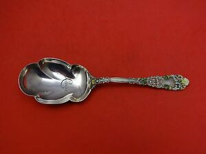 """Renaissance by Dominick & Haff Sterling Silver Berry Spoon Enameled 9"""""""