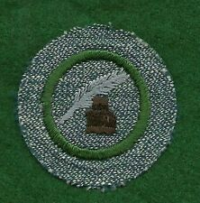 VINTAGE GIRL SCOUT BADGE - SILVER GREEN - JOURNALIST - FREE SHIPPING