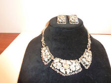 Barclay Clear Rhinestone Large Necklace & Earrings Set Signed Lot Jewels India