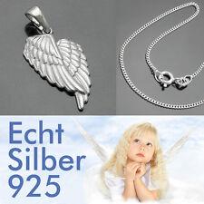 Engelflügel Anhänger Schutzengel Engels Flügel mit Kette Länge Wahl Silber 925