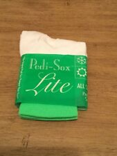 💅🏻 Pedicure socks Pedi-Sox  Lite Green strip- New in Package