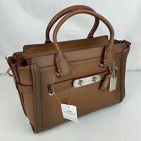 New Coach Swagger Leather Swagger 27 Satchel 38372
