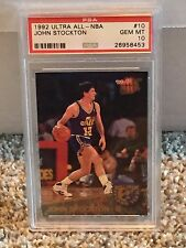 1992 Fleer Ultra ALL-NBA #10 - JOHN STOCKTON - PSA 10 Gem Mint - POP3 Utah JAZZ
