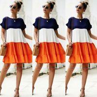 Short Sleeve Maxi Summer Sundress Womens Dress Floral Evening Casual Dresses