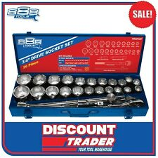 "888 Tools by SP 27 Piece 3/4"" Drive Socket Set Metric / Imperial - T820400"