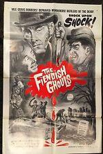 Fiendish Ghouls. MANIA 1sh R65 Peter Cushing