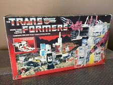 TRANSFORMERS VINTAGE G1 1985 Hasbro AUTOBOT METROPLEX With BOX Unapplied Sticker