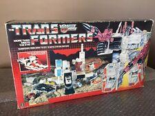 TRANSFORMERS VINTAGE G1 1985 Hasbro AUTOBOT METROPLEX With BOX Unapplied Sticker