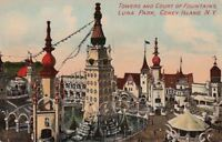 Postcard Towers + Court of Fountains Luna Park Coney Island NY