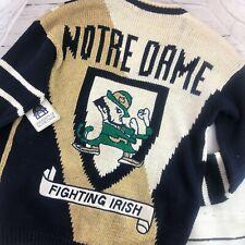 NWT University NOTRE DAME Fighting Irish Football Cardigan Sweater Belle Pointe