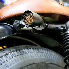 Bobber Cafe Racer Motorcycle LED Black Bullet Brake Turn Signal Tail Light Amber