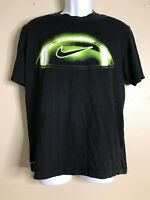 Nike Men Size M Black Neon Football T-shirt Dri-Fit Short Sleeve