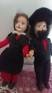 """VINTAGE DOLL OF THE WORLD TWO OMISH DOLLS 1950,S 7"""""""
