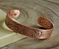 Copper Magnetic Bracelet - Arthritis Pain Therapy Energy Cuff - Native American