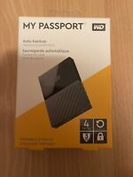 NEW Western Digital My Passport 4TB External WDBYFT0040BBK-WESN Hard Drive ~120~