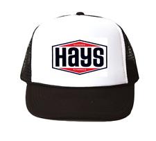 vintage Hays clutches Trucker Hat mesh hat black New racing hat