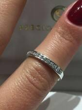 PLATINUM RING 0.25CT DIAMONDS HALF ETERNITY CHANEL SETTING LADY RING GOY604