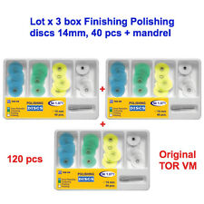3x40pcs Dental Finishing Polishing discs 14 mm SofLex type+ mandrel Tor VM 1.071
