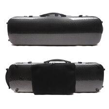 4/4 Violin case Carbon Fiber Violin Box Oblong Black Strong Light Carry Violin
