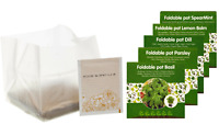 Grow Your Own Herbs Indoor Gardeners Xmas Gift Kit Set Foldable Plant Seeds Pot