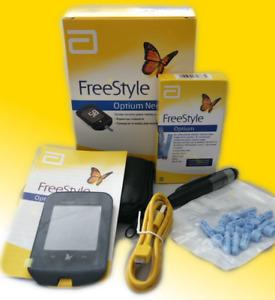 Freestyle NEO ABBOT Optium blood  sugar glucose B ketone monitor unit start kit