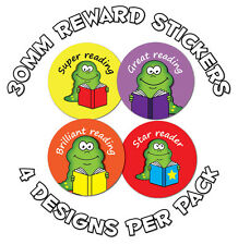 144 x Reading awards - 30mm Children Reward Stickers - Schools,Teachers