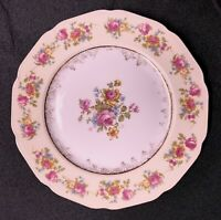 "Vintage Gold Castle Fine China Japan Hostess Floral Salad Plates 7.5"" Set Of 8"