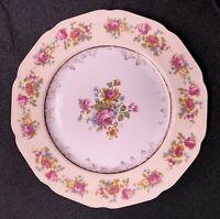"""Vintage Gold Castle Fine China Japan Hostess Floral Salad Plates 7.5"""" Set Of 8"""