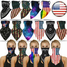 American Face Balaclava Scarf Cover Biker Shield Ear Loop Neck Gaiter Usa