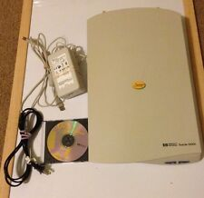 HP SCANJET 3300C Flatbed COLOR SCANNER C7680A With Power cord & Software CD