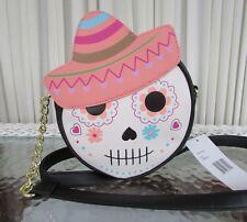 Luv Betsey Johnson Kitsch Sugar Skull Crossbody Bag Dios de los Muertos NWT