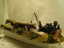 Steam Engine Tractor from historic pictures-custom weathered, painted  HO -lot 7