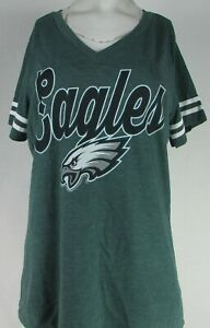 Philadelphia Eagles NFL Team Apparel Women's V-Neck Short Sleeve Shirt