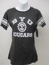 New BYU Brigham Young Cougars Adult Womens Size M Medium Black V-Neck Shirt