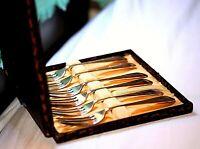 Vintage Set of 6 EPNS Priestely & Moore Dessert Forks - Boxed Silver Plated