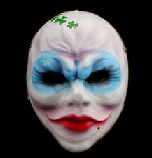 Payday 2 The Heist Clover Cosplay Mask Joker Costume Props Halloween Scary Mask
