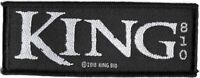 100% Official Licensed Merch Woven Sew-on PATCH Metal Rock KING 810 Logo