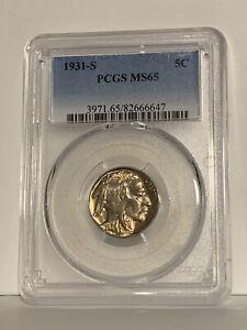 1931-S Buffalo Nickel - PCGS MS 65