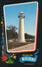 postcard USA  Mississipi gretings from Biloxi   unposted