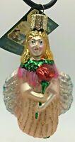 Old World Christmas Glass Ornament Rose Petal Fairy 10109 Retired